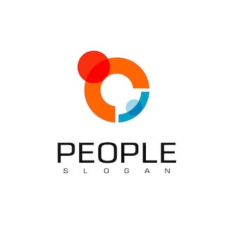 Modèle de conception de logo de famille de personnes