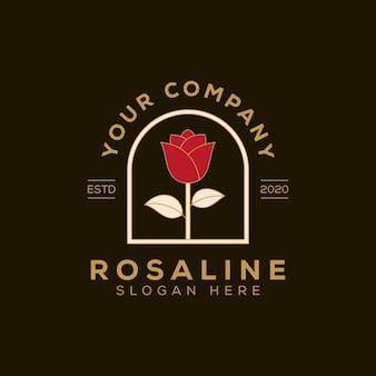 Modèle de conception de logo féminin rose beauté