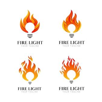 Modèle de conception de logo de feu léger