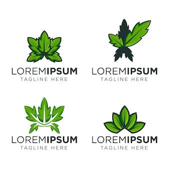 Modèle de conception de logo feuille