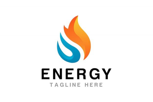 Modèle de conception de logo de flamme