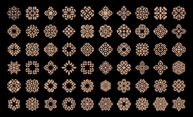 Modèle de conception de logo de fleur de luxe