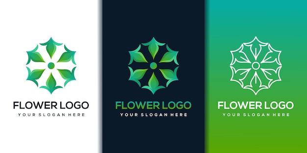 Modèle de conception de logo de fleur