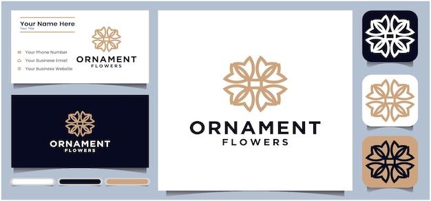 Modèle de conception de logo floral circle abstract flower logo design pour salon de yoga ou spa