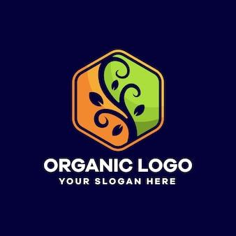 Modèle de conception de logo floral organique