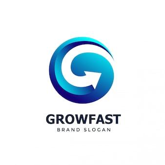 Modèle de conception de logo g arrow
