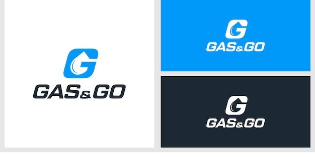 Modèle de conception de logo gas & go