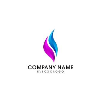 Modèle de conception de logo de gaz et d'huile