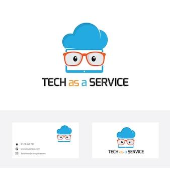 Modèle de conception de logo geek.