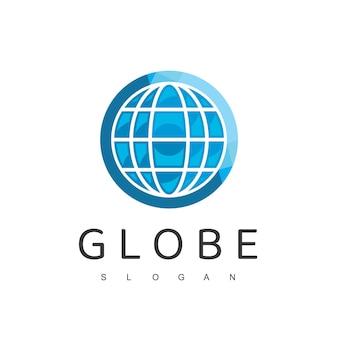 Modèle de conception de logo de globe