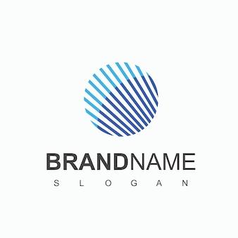 Modèle de conception de logo globe