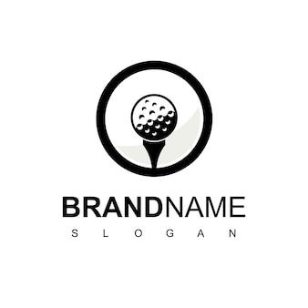 Modèle de conception de logo de golf