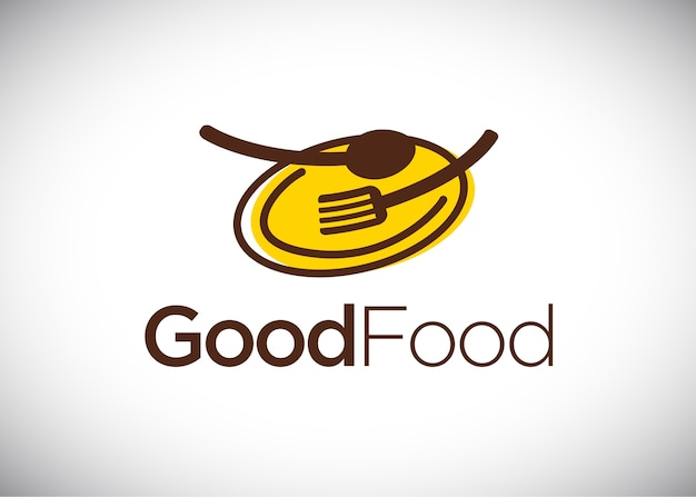 Modèle de conception de logo good food