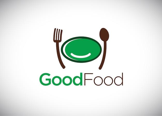 Modèle de conception de logo good food