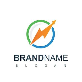 Modèle de conception de logo de graphique d'entreprise