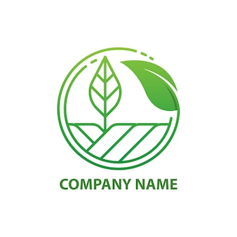 Modèle de conception de logo green nature farm.