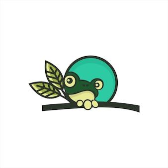 Modèle de conception de logo de grenouille
