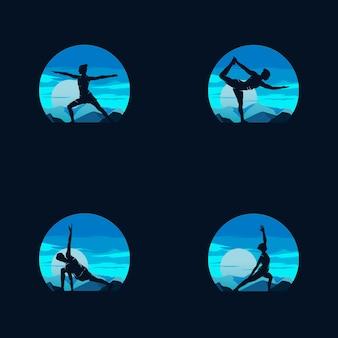 Modèle de conception de logo de gymnastique