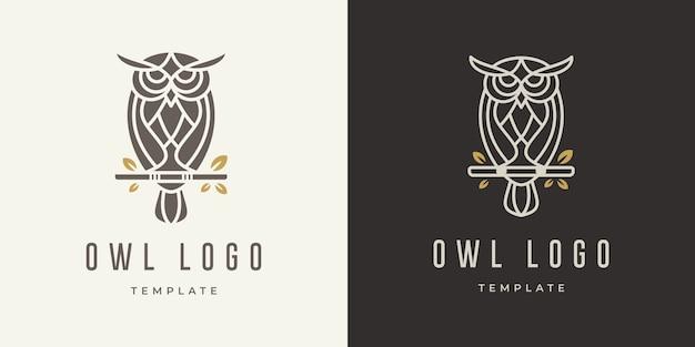 Modèle de conception de logo de hibou