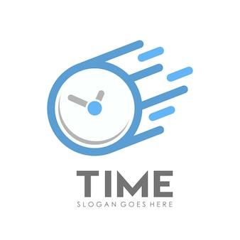 Modèle de conception de logo horloge