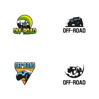Modèle de conception de logo hors route