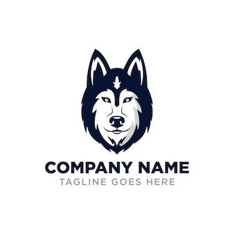 Modèle de conception de logo husky