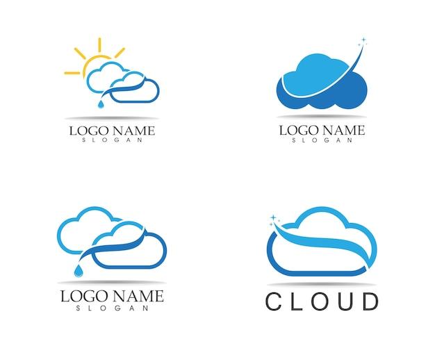 Modèle de conception de logo icône nuage