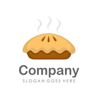 Modèle de conception logo et icône tarte gâteau