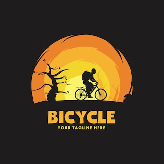 Modèle de conception de logo illustration cyclisme homme
