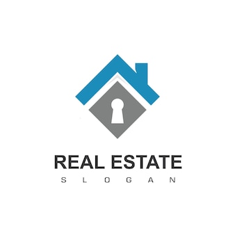 Modèle de conception de logo immobilier logo vectoriel de toiture