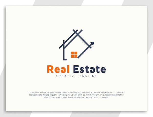 Modèle de conception de logo immobilier maison