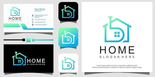 Modèle de conception de logo immobilier moderne