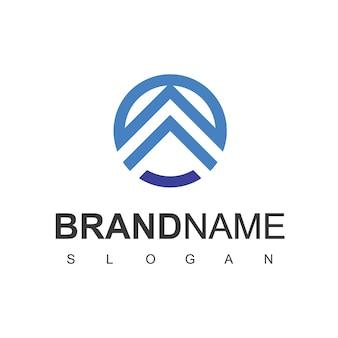 Modèle de conception de logo immobilier. vecteur de logo de toiture.