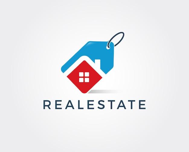 Modèle de conception de logo immobilier