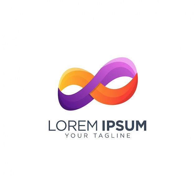 Modèle de conception de logo infini coloré