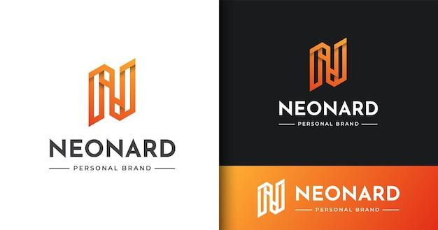 Modèle de conception de logo initial n