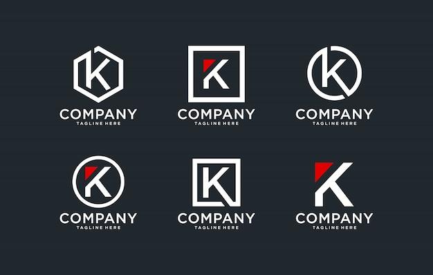 Modèle de conception de logo initiales k.