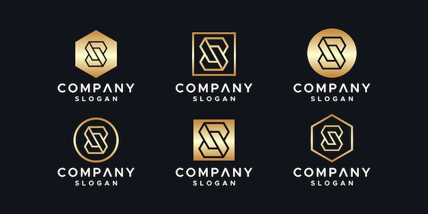 Modèle de conception de logo initiales.