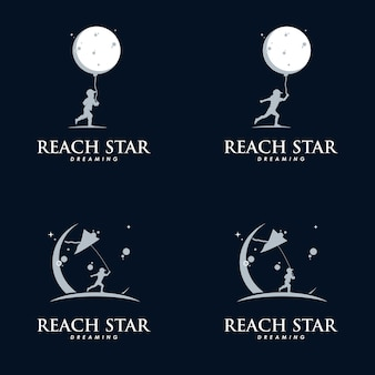 Modèle de conception de logo de jeu d'enfants