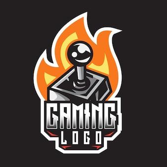 Modèle de conception de logo de jeu joystick e-sport