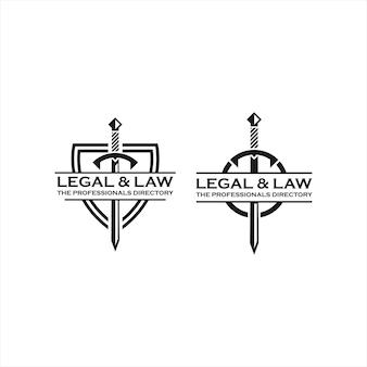 Modèle de conception de logo de justice de cabinet d'avocats