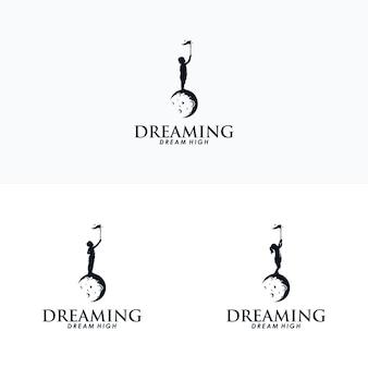 Modèle de conception de logo kid dream