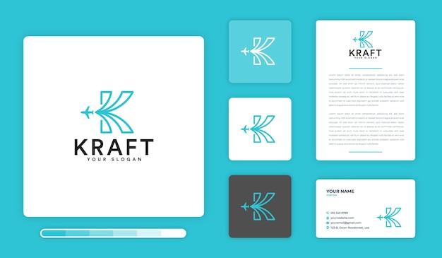Modèle de conception de logo kraft