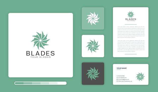 Modèle de conception de logo de lames
