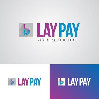 Modèle de conception de logo lay pay