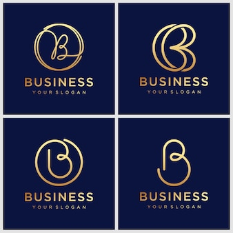 Modèle de conception de logo lettre b
