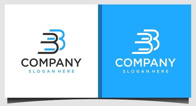 Modèle de conception de logo lettre bb