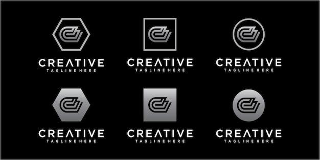 Modèle de conception de logo lettre d avec dégradé de couleur