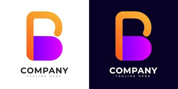 Modèle de conception de logo lettre initiale b et pb moderne