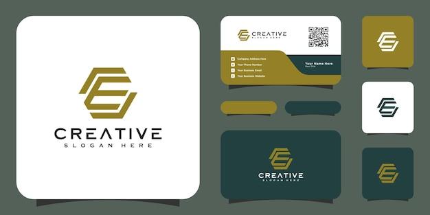 Modèle de conception de logo de lettre initiale e